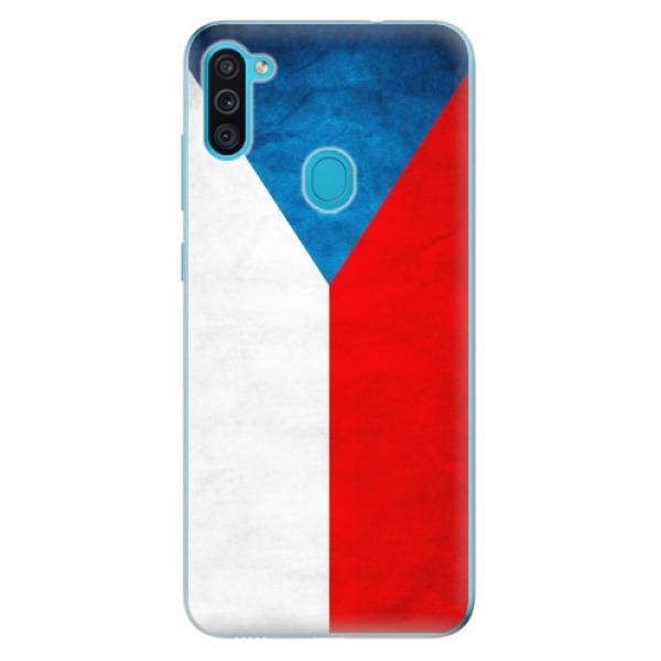 Odolné silikonové pouzdro iSaprio - Czech Flag - Samsung Galaxy M11