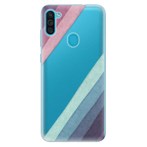 Odolné silikonové pouzdro iSaprio - Glitter Stripes 01 - Samsung Galaxy M11