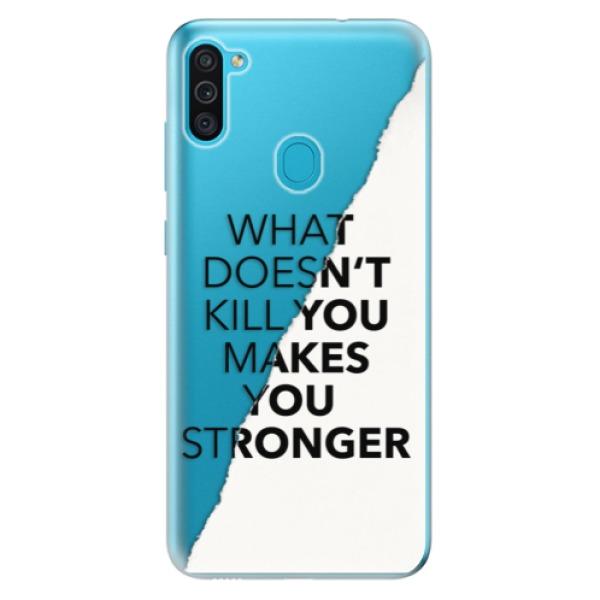 Odolné silikonové pouzdro iSaprio - Makes You Stronger - Samsung Galaxy M11