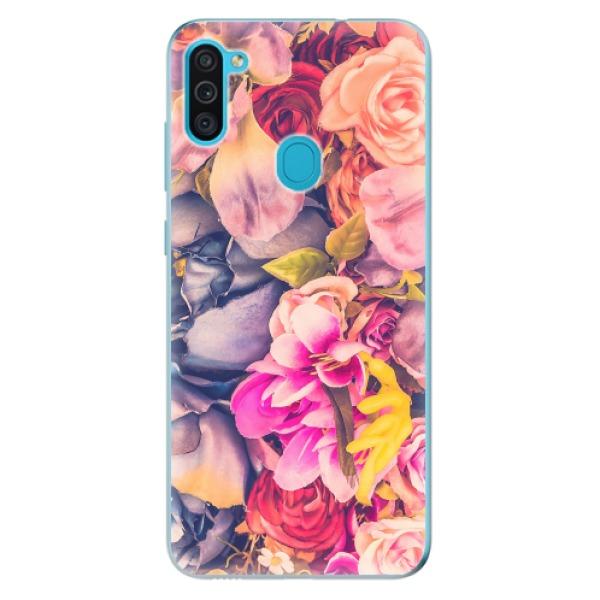 Odolné silikonové pouzdro iSaprio - Beauty Flowers - Samsung Galaxy M11