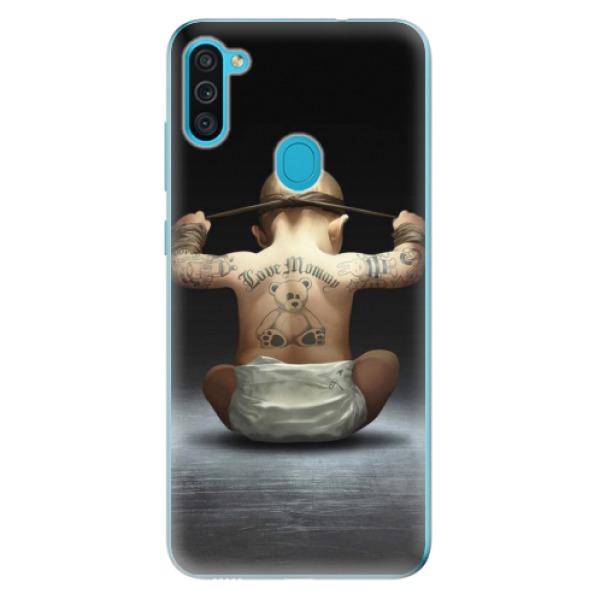 Odolné silikonové pouzdro iSaprio - Crazy Baby - Samsung Galaxy M11