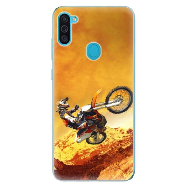 Odolné silikonové pouzdro iSaprio - Motocross - Samsung Galaxy M11