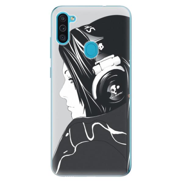 Odolné silikonové pouzdro iSaprio - Headphones - Samsung Galaxy M11