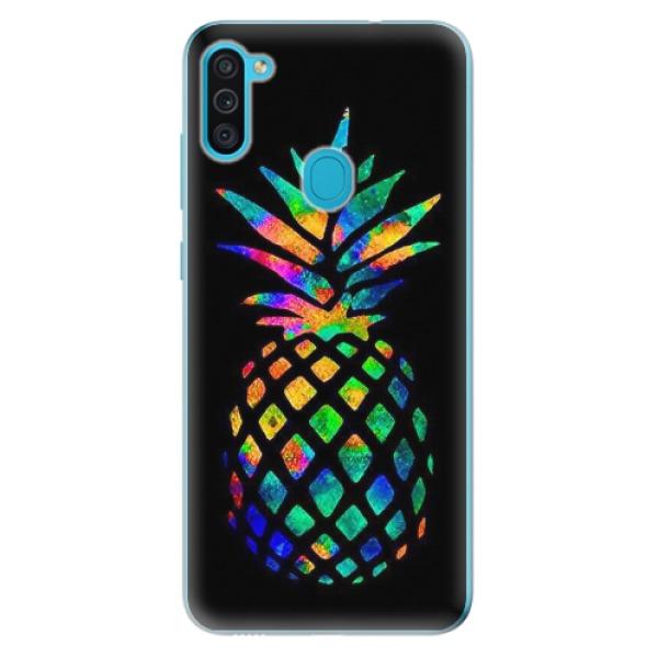 Odolné silikonové pouzdro iSaprio - Rainbow Pineapple - Samsung Galaxy M11