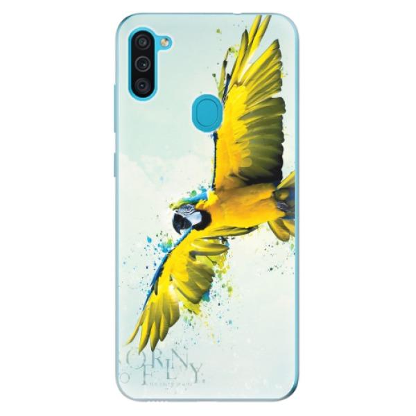 Odolné silikonové pouzdro iSaprio - Born to Fly - Samsung Galaxy M11