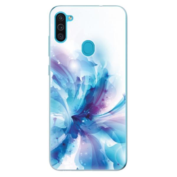 Odolné silikonové pouzdro iSaprio - Abstract Flower - Samsung Galaxy M11
