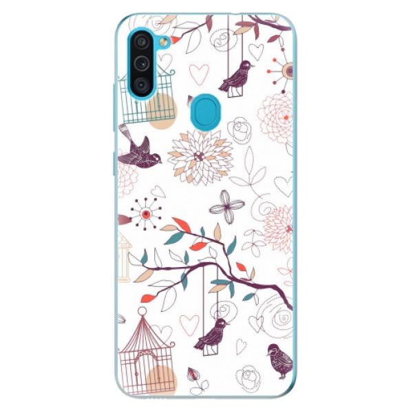 Odolné silikonové pouzdro iSaprio - Birds - Samsung Galaxy M11