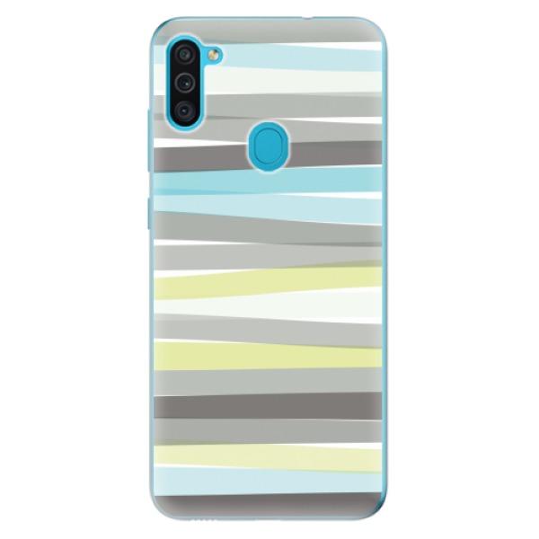 Odolné silikonové pouzdro iSaprio - Stripes - Samsung Galaxy M11