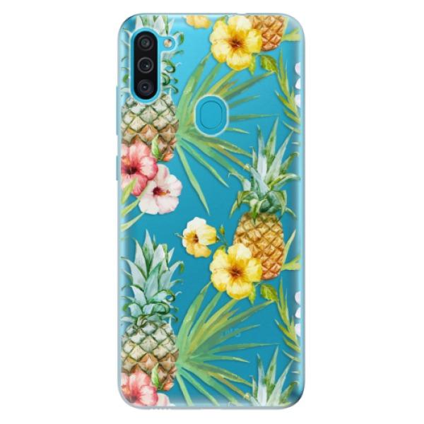 Odolné silikonové pouzdro iSaprio - Pineapple Pattern 02 - Samsung Galaxy M11