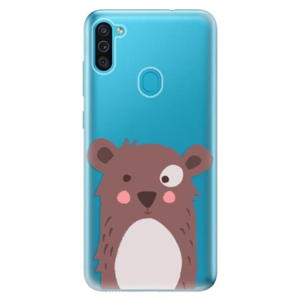 Odolné silikonové pouzdro iSaprio - Brown Bear - Samsung Galaxy M11