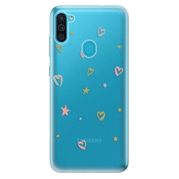 Odolné silikonové pouzdro iSaprio - Lovely Pattern - Samsung Galaxy M11