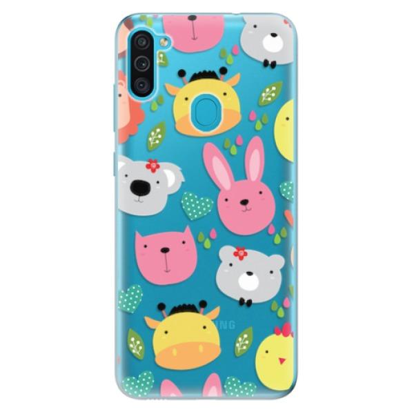 Odolné silikonové pouzdro iSaprio - Animals 01 - Samsung Galaxy M11