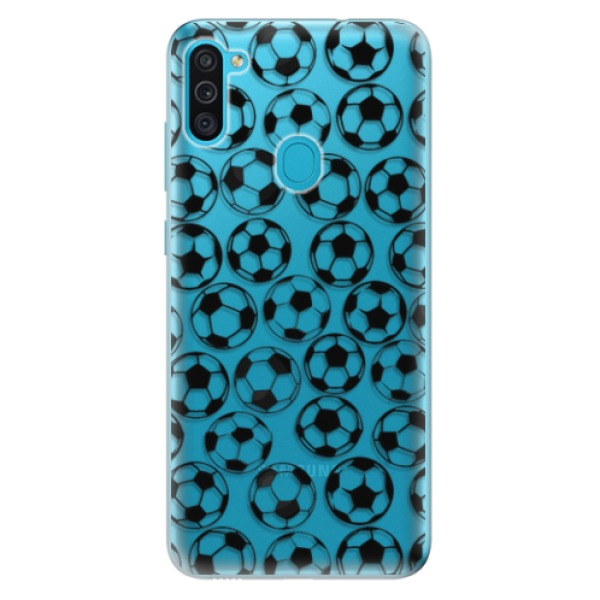 Odolné silikonové pouzdro iSaprio - Football pattern - black - Samsung Galaxy M11