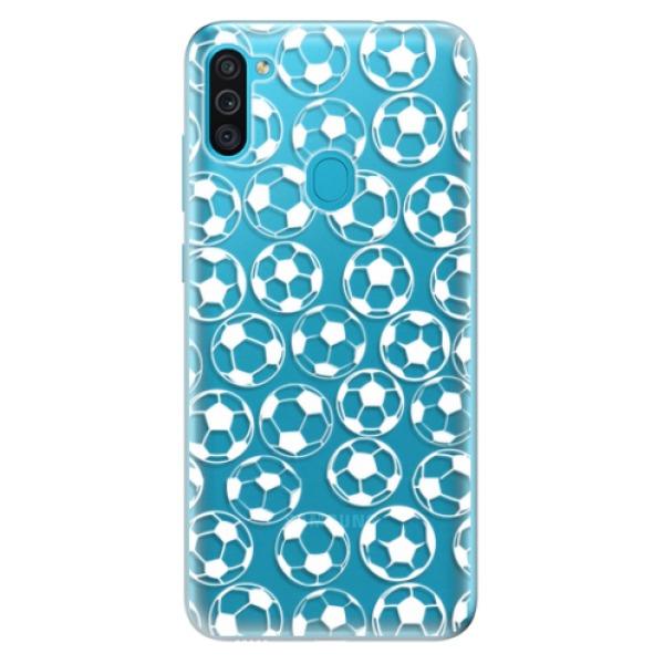 Odolné silikonové pouzdro iSaprio - Football pattern - white - Samsung Galaxy M11