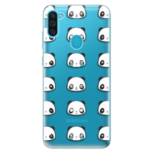 Odolné silikonové pouzdro iSaprio - Panda pattern 01 - Samsung Galaxy M11