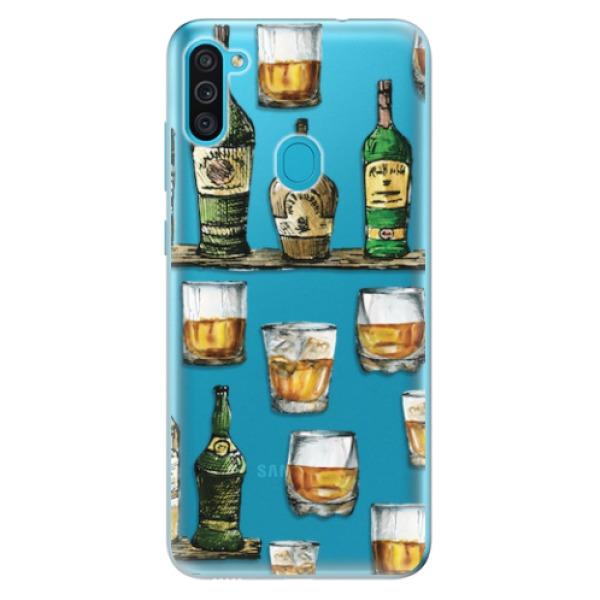 Odolné silikonové pouzdro iSaprio - Whisky pattern - Samsung Galaxy M11
