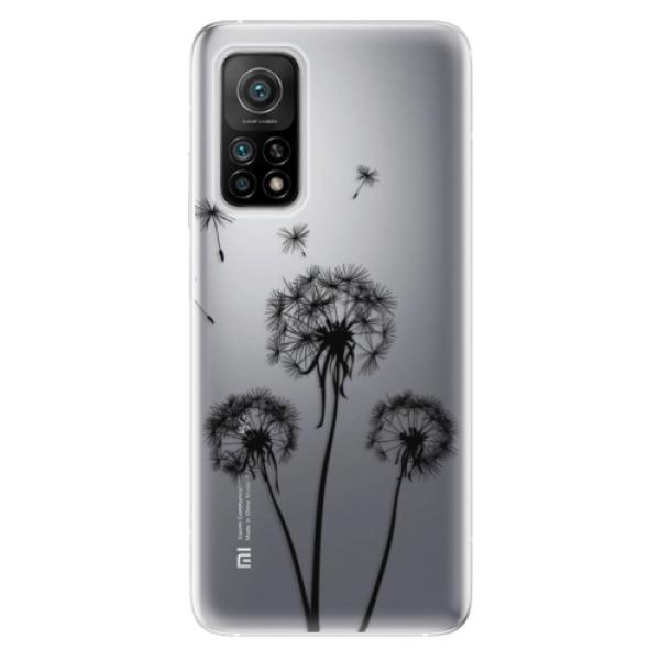 Odolné silikonové pouzdro iSaprio - Three Dandelions - black - Xiaomi Mi 10T / Mi 10T Pro