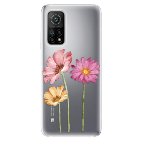 Odolné silikonové pouzdro iSaprio - Three Flowers - Xiaomi Mi 10T / Mi 10T Pro