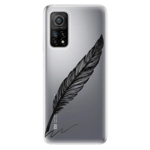 Odolné silikonové pouzdro iSaprio - Writing By Feather - black - Xiaomi Mi 10T / Mi 10T Pro