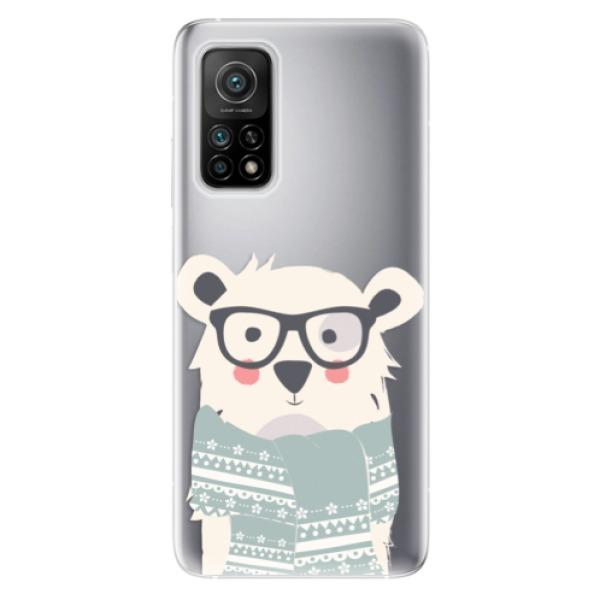 Odolné silikonové pouzdro iSaprio - Bear with Scarf - Xiaomi Mi 10T / Mi 10T Pro
