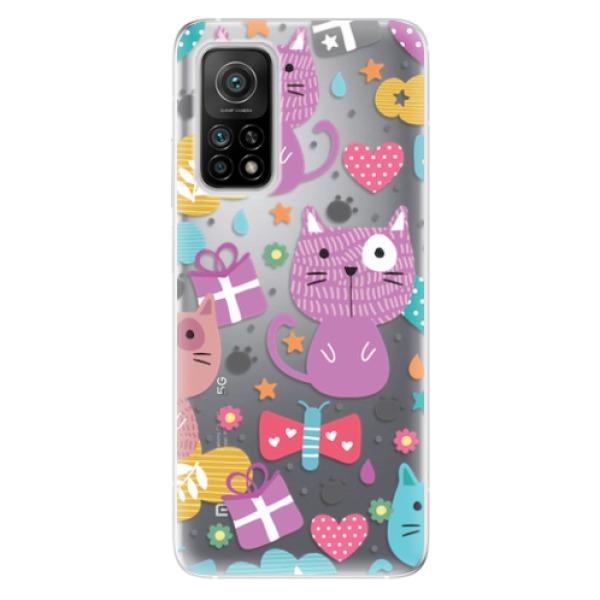 Odolné silikonové pouzdro iSaprio - Cat pattern 01 - Xiaomi Mi 10T / Mi 10T Pro