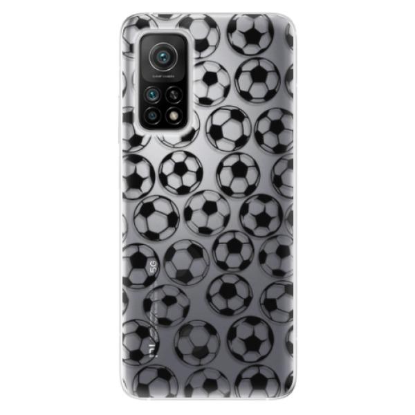 Odolné silikonové pouzdro iSaprio - Football pattern - black - Xiaomi Mi 10T / Mi 10T Pro