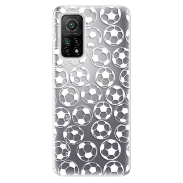 Odolné silikonové pouzdro iSaprio - Football pattern - white - Xiaomi Mi 10T / Mi 10T Pro