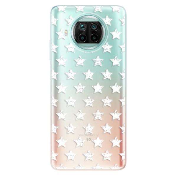 Odolné silikonové pouzdro iSaprio - Stars Pattern - white - Xiaomi Mi 10T Lite