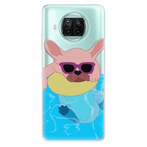 Odolné silikonové pouzdro iSaprio - Swimming Dog - Xiaomi Mi 10T Lite