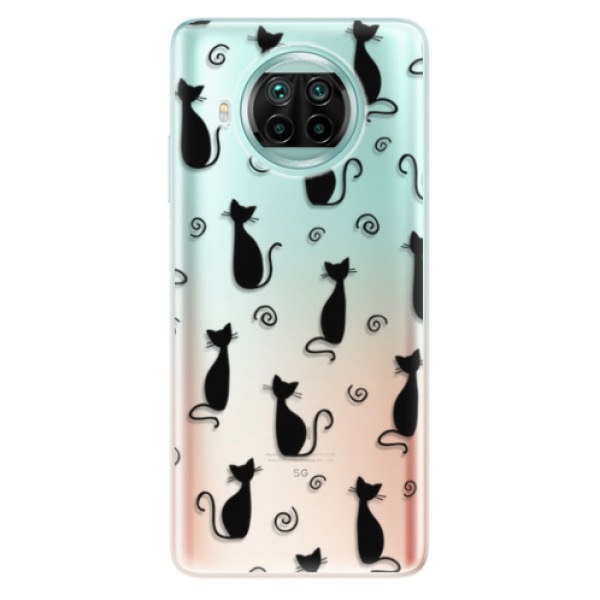 Odolné silikonové pouzdro iSaprio - Cat pattern 05 - black - Xiaomi Mi 10T Lite