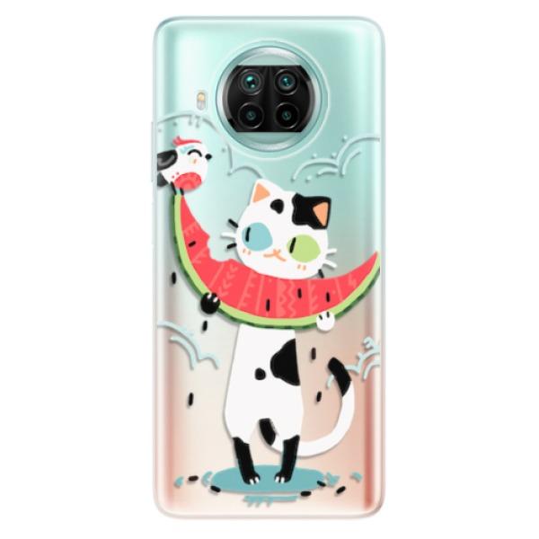 Odolné silikonové pouzdro iSaprio - Cat with melon - Xiaomi Mi 10T Lite