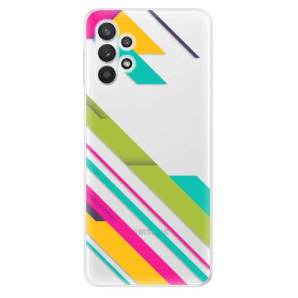 Odolné silikonové pouzdro iSaprio - Color Stripes 03 - Samsung Galaxy A32 5G