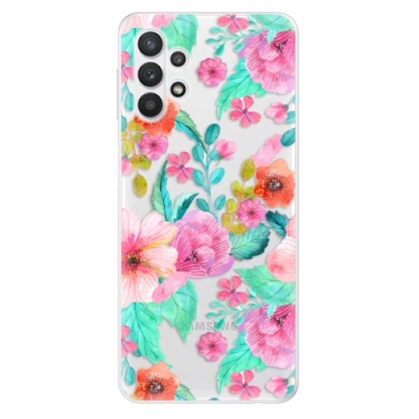 Odolné silikonové pouzdro iSaprio - Flower Pattern 01 - Samsung Galaxy A32 5G