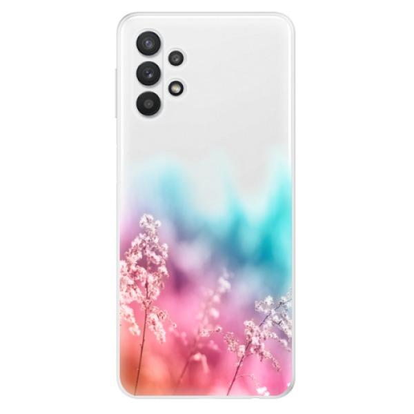 Odolné silikonové pouzdro iSaprio - Rainbow Grass - Samsung Galaxy A32 5G