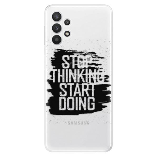 Odolné silikonové pouzdro iSaprio - Start Doing - black - Samsung Galaxy A32 5G