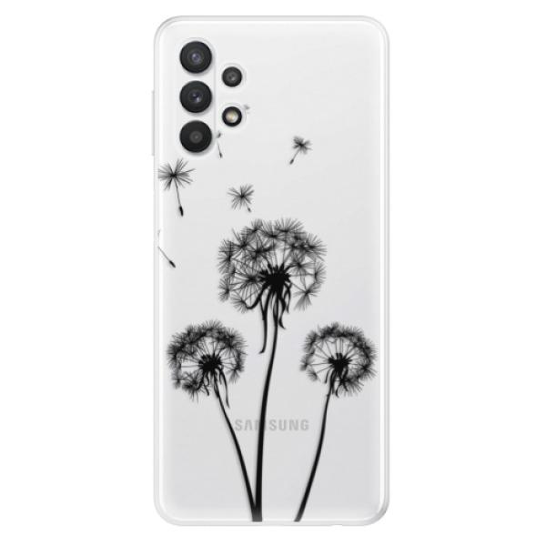 Odolné silikonové pouzdro iSaprio - Three Dandelions - black - Samsung Galaxy A32 5G
