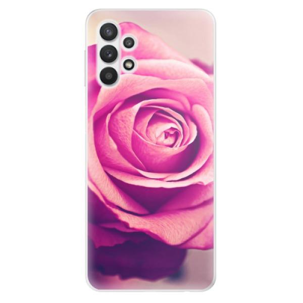 Odolné silikonové pouzdro iSaprio - Pink Rose - Samsung Galaxy A32 5G