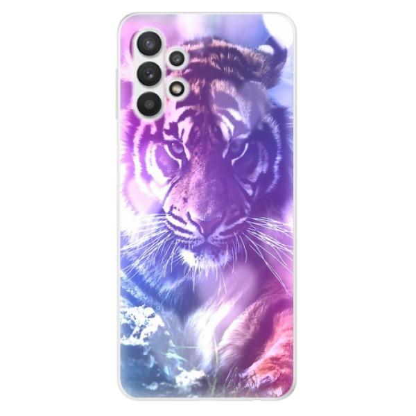 Odolné silikonové pouzdro iSaprio - Purple Tiger - Samsung Galaxy A32 5G