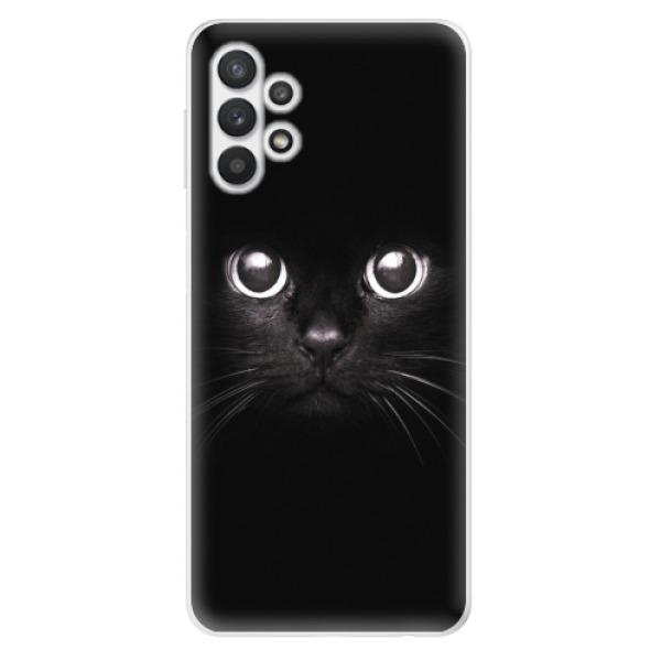 Odolné silikonové pouzdro iSaprio - Black Cat - Samsung Galaxy A32 5G