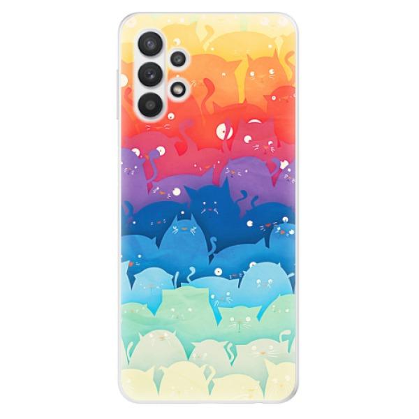 Odolné silikonové pouzdro iSaprio - Cats World - Samsung Galaxy A32 5G