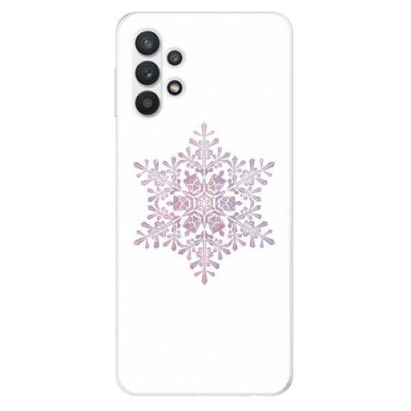 Odolné silikonové pouzdro iSaprio - Snow Flake - Samsung Galaxy A32 5G