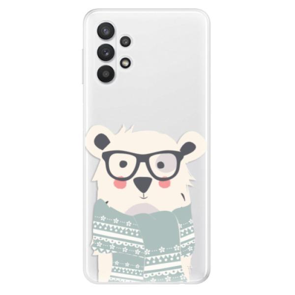 Odolné silikonové pouzdro iSaprio - Bear with Scarf - Samsung Galaxy A32 5G