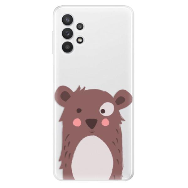 Odolné silikonové pouzdro iSaprio - Brown Bear - Samsung Galaxy A32 5G