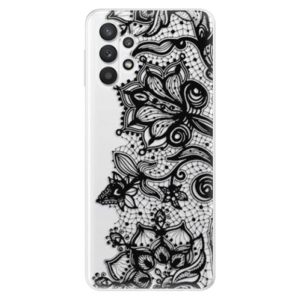 Odolné silikonové pouzdro iSaprio - Black Lace - Samsung Galaxy A32 5G