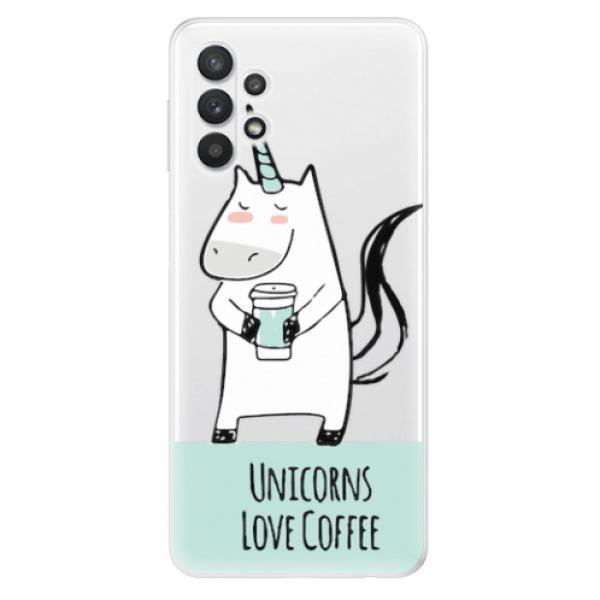 Odolné silikonové pouzdro iSaprio - Unicorns Love Coffee - Samsung Galaxy A32 5G