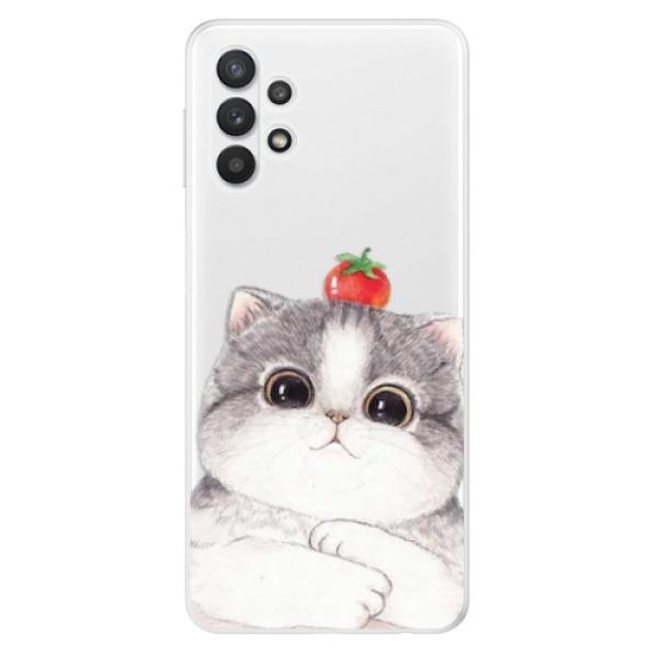 Odolné silikonové pouzdro iSaprio - Cat 03 - Samsung Galaxy A32 5G