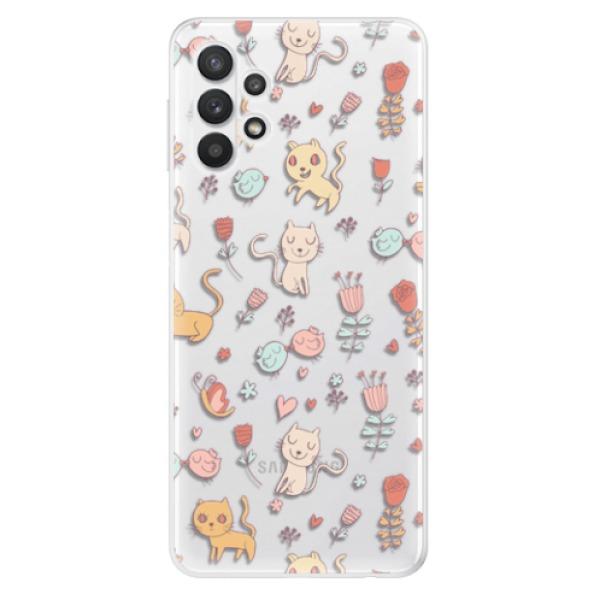 Odolné silikonové pouzdro iSaprio - Cat pattern 02 - Samsung Galaxy A32 5G