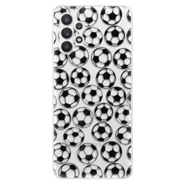 Odolné silikonové pouzdro iSaprio - Football pattern - black - Samsung Galaxy A32 5G