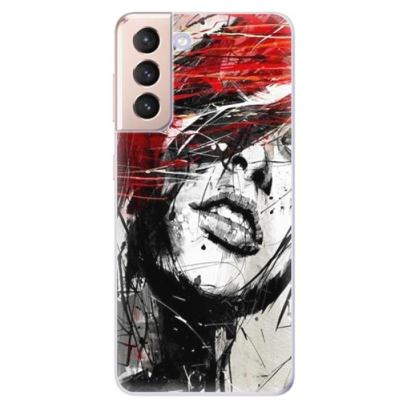Odolné silikonové pouzdro iSaprio - Sketch Face - Samsung Galaxy S21