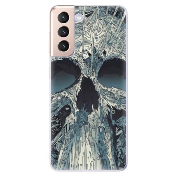Odolné silikonové pouzdro iSaprio - Abstract Skull - Samsung Galaxy S21